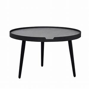Couchtisch Schwarz Metall : couchtisch dustins in schwarz beton grau rund ~ Eleganceandgraceweddings.com Haus und Dekorationen