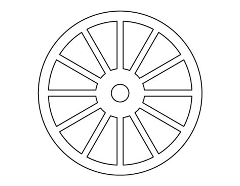 tire stenciel template wheel pattern use the printable outline for crafts