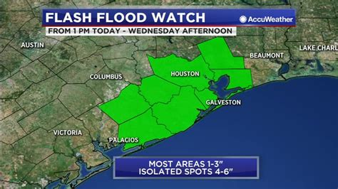 A flash flood watch has been issued through 7 p.m. HOUSTON WEATHER: Flash Flood Watch for parts of southeast Texas | abc13.com