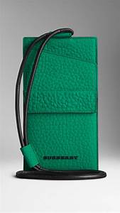 lyst burberry signature grain leather travel id holder With burberry document holder