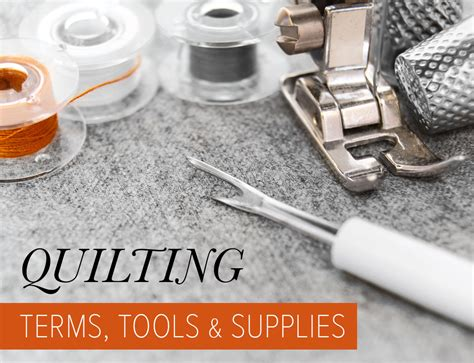 quilting terms tools supplies suzy quilts