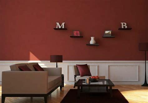 Wandfarbe Rot Braun by On Met L Accent Sur La Couleur De Peinture Pour Salon