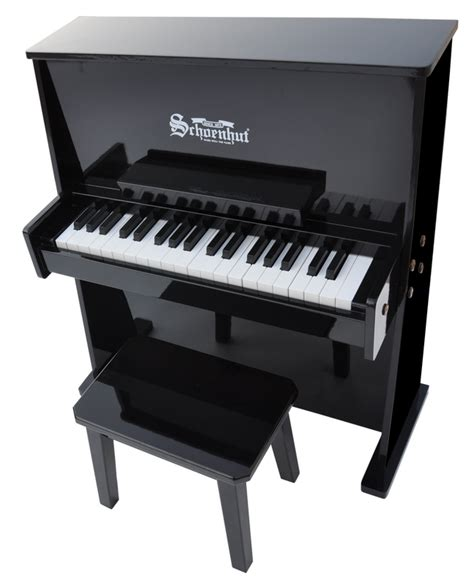 children s piano 37 key daycare durable spinet piano w 994 | children s piano 37 key daycare durable spinet piano w bench by schoenhut black white oak or mahogany 5