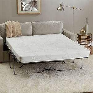 Innerspace luxury products 60 in w x 72 in l queen size for Sofa bed mattress 60 x 72