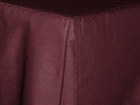 Dark Wine (Burgundy) Tailored Bedskirt (for cribs and