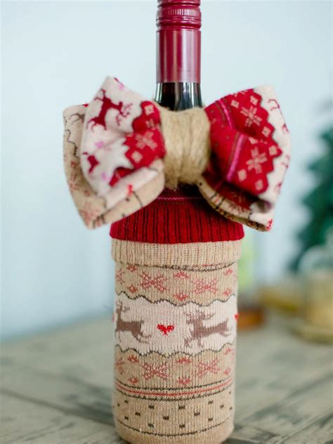 10 Creative Ways To Wrap A Wine Bottle Gift Hgtv