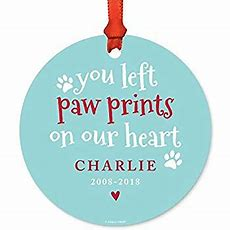 Amazoncom Andaz Press Personalized Dog Cat Pet Animal Memorial Round Metal Christmas Ornament