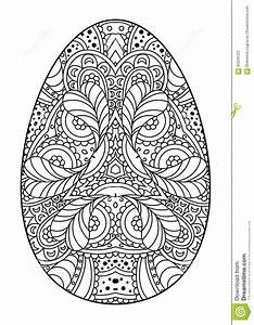 Ostereier Schwarz Weiß : dekoratives schwarzweiss osterei zentangle vektor abbildung bild 65340122 ~ Frokenaadalensverden.com Haus und Dekorationen