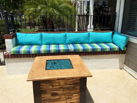 outdoor built in bench seating cushions style