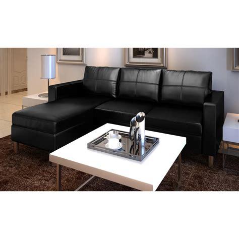 canapé 3 places noir canapé d 39 angle modulable 3 places noir