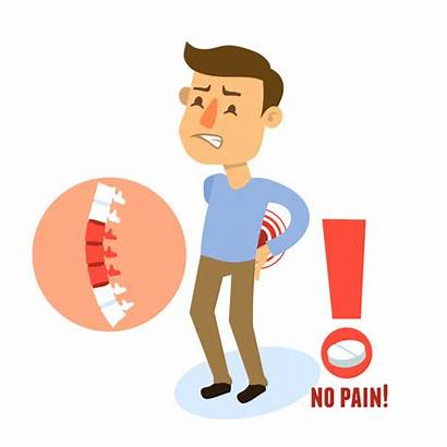 Spine Human Pain Vector Character Sick