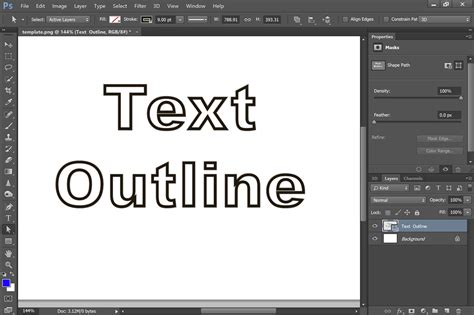 white text   black outline  photoshop cs   works giving  tech