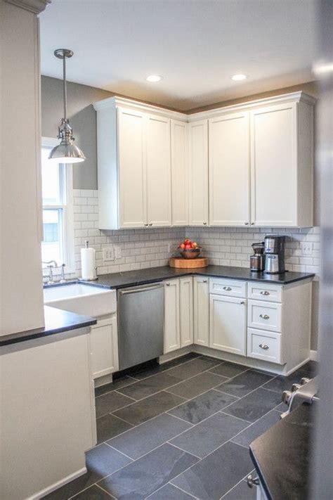 white cabinets gray floor 25 best ideas about gray tile floors on pinterest gray 278 | 9047410e7d78c347e85f0526e669dece