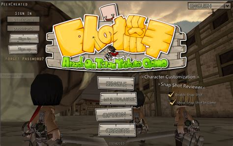 Attack On Titan Tribute Game Web Browser Transhuman