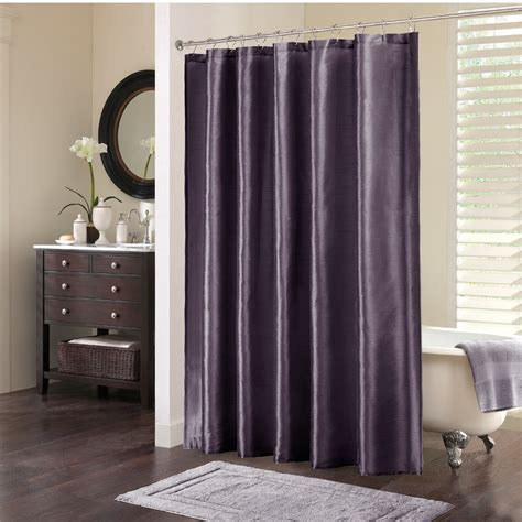 plum shower curtain park tradewinds polyester shower curtain in plum