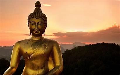 Buddha God Statue Golden Lord Wallpapers Walls