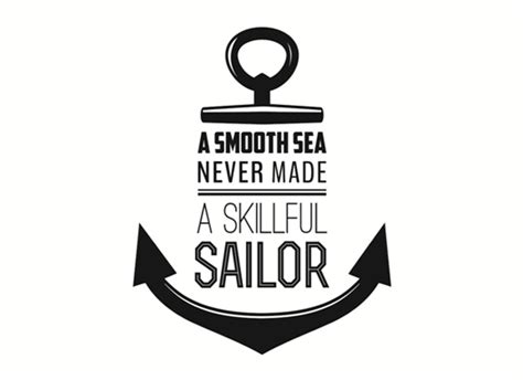 nautical wall a smooth sea never made a skillful sailor grafix wall