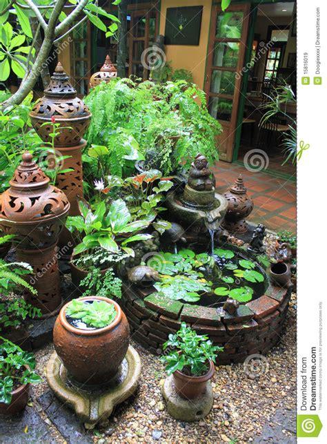 clay pottery  botanical garden setting royalty