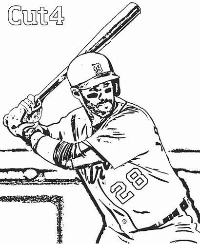 Baseball Player Drawing Coloring Mlb Printable Getdrawings