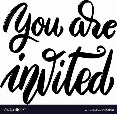 Invited Lettering Vector Hand Phrase Drawn Grace