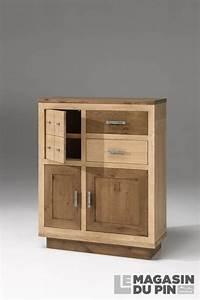 meuble d39entree chene massif 3 portes havane le magasin du pin With porte d entrée alu avec meuble 120 cm salle de bain