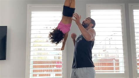 father daughter duo show   impressive cheerleading