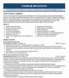Free Sle Heavy Equipment Operator Resume by Forklift Operator Resume Sle Cv Template Jobsite