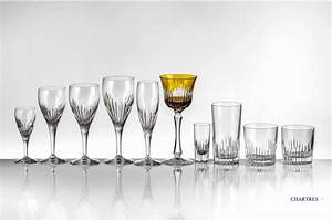 Luxury French Handcut Crystal Glassware Stemware Chartres