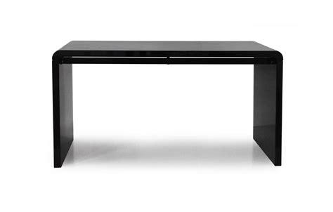 bureau console design console design ou bureau laqué taupe noir ou blanc 140 cm decome store