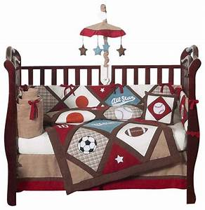 All Star Sports 9 Piece Baby Bedding Set Contemporary