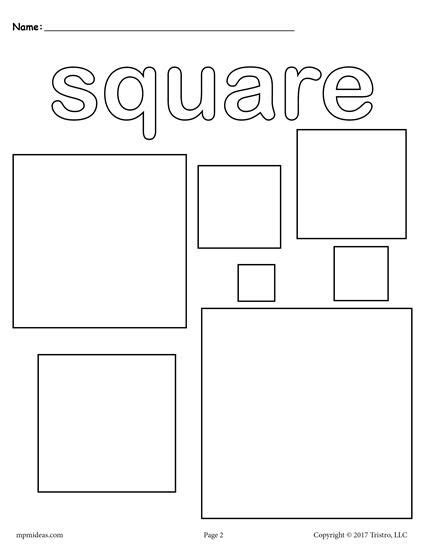 square coloring pages 145 best shapes worksheets coloring pages activities