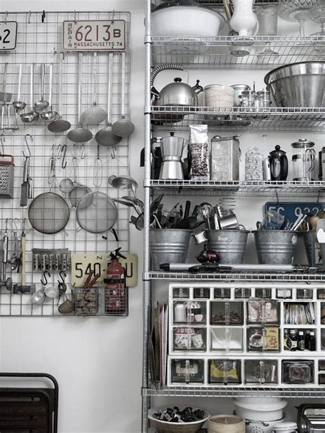 stainless shelves industrial kitchen pinterest celebrate your kitchen collectibles and accessories with