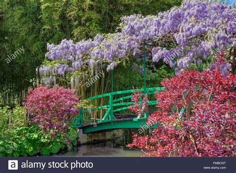 Japanischer Garten Claude Monet by Claude Monet Bridge Stockfotos Claude Monet Bridge