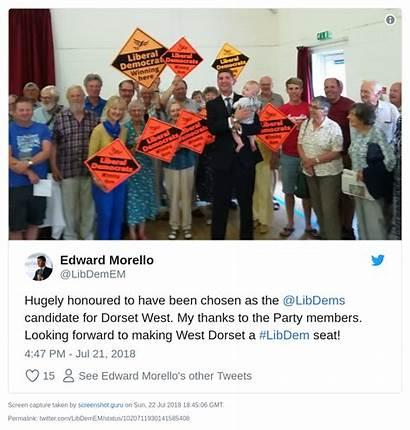 Edward Morello Dorset West Liberal Pick Democrats
