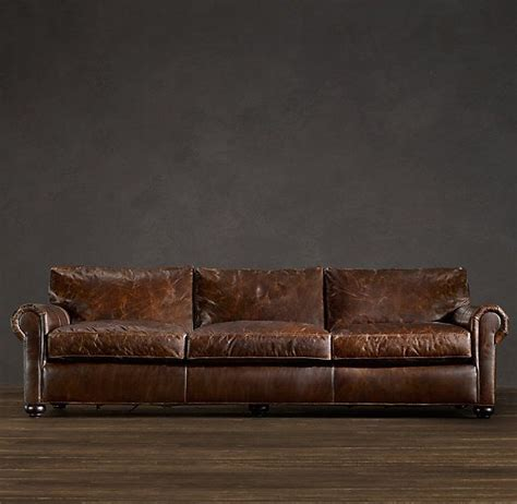 Restoration Hardware Lancaster Sofa Dimensions by Best 25 Distressed Leather Ideas On