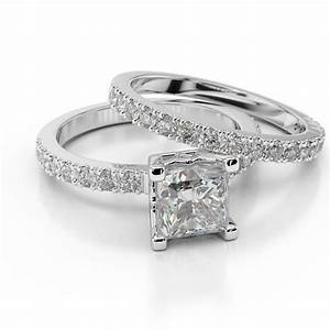 Diamond bridal set princess bride premier 1 carat 1 for Wedding ring catalogs by mail