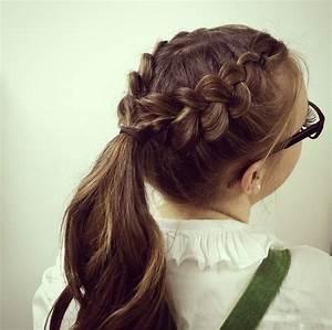 19 Pretty French Braid Ponytail Ideas: Summer Hairstyles ...