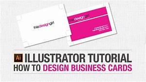 Adobe illustrator tutorial how to design business cards for How to design business card