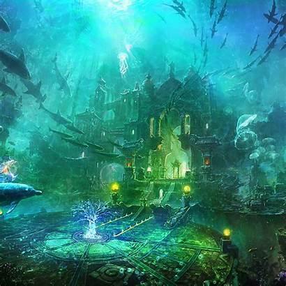 Underwater Abyss Fantasy Atlantis Sea Wallpapers Ipad