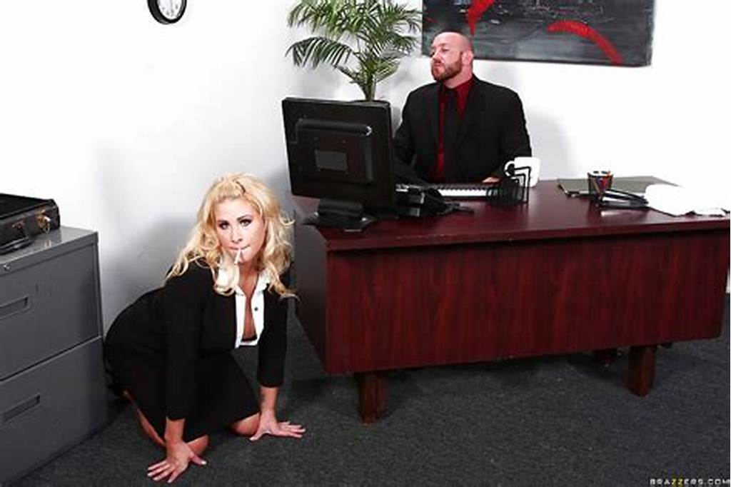 #Stunning #Secretary #With #Round #Jugs #Gets #Screwed #Tough #By