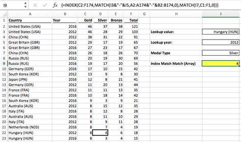 Index Match Match In Excel