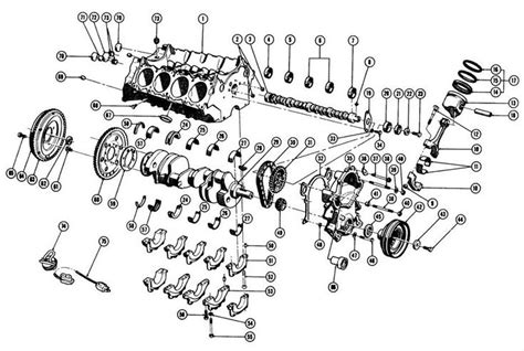 Ford V8 Engine Diagram by 1967 75 V8 Engine Block Exc 1975 Quot X Quot Exploded View