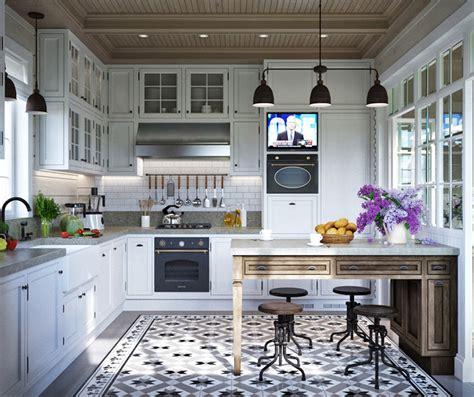 une russe en cuisine maison familiale russe au design intérieur néo