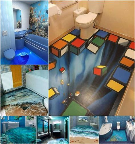 13 amazing 3d floor designs for your bathroom