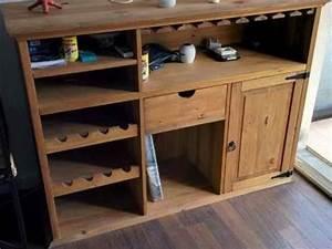 Bar En Bois : meuble bar fly en bois massif tbe olliou ollioules meubles d coration meuble ollioules ~ Teatrodelosmanantiales.com Idées de Décoration