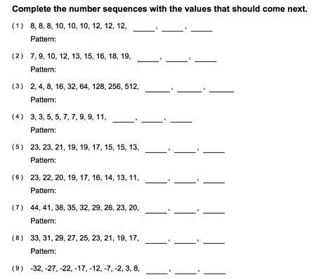 search results for grade 1 number patterns worksheets