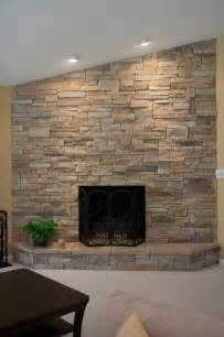 Hanging A Tv On Brick Fireplace by Ledge Stone Dry Stack Stone Fireplaces Traditional