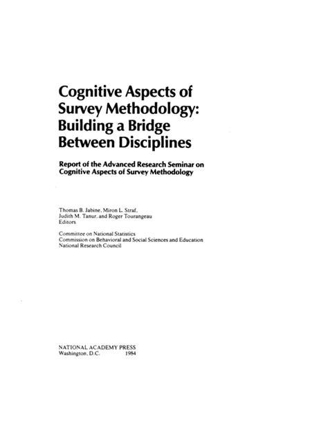 Front Matter   Cognitive Aspects of Survey Methodology