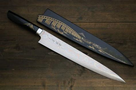handmade kitchen knives for sale takeshi saji damascus japanese sujihiki sushi chef knife