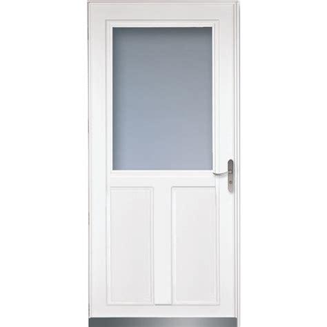 larson retractable screen door shop larson tradewinds white high view aluminum